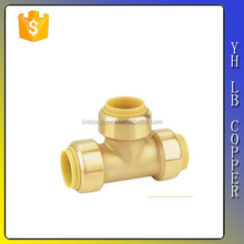 LBA007 DZR Material Equal Tee Brass fitting plumbing