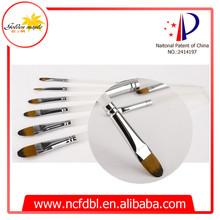 Acrílico Brush Set Art Pen pintura para pintores profesionales pelo sintético mango de plástico