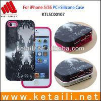 Unique Design OEM Silicone+PC Mobile Phone Case for iPhone 5S