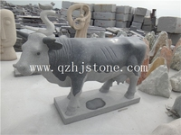 chinese cheap granite animal status/suclpture cow for sale