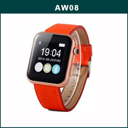 2015 Hot Sale Bluetooth AW08 Smart Watch Mobile Phone