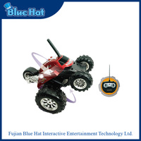360 degrees spinning stunt wireless remote toy car with LED light