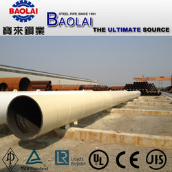 HIGH SOLID EPOXY COATED SPIRAL WELDED STEEL PIPE FOR OFFSHORE PILING PROJECT