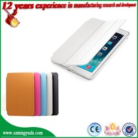 Wake/Sleep function fold design flip stand leather tablet case for ipad mini case