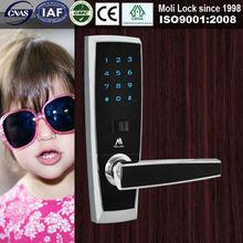 Excellent design euro type interior fingerprint door lock, biometrics fingerprint with password door locks, high quality lock