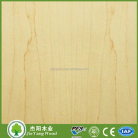 9mm Eo glue hardwood core maple plywood for decoration indoor