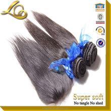 Women Fashion Malaysian Kinky Straight Hair Weave&Pre-Bonded Hair Extension&Straight Malaysian Hair With Silk Closure