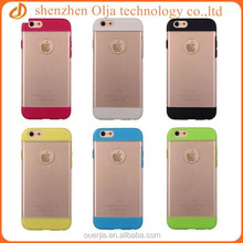 Double color design clear pc case for iphone, custom print pc cases for sale