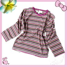 100% cotton children stripe t-shirt dresses with good quality