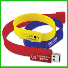 Creative wrist band PVC usb flash drive