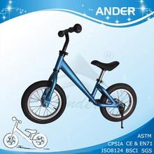 Toddler balance bike / high level Anodizing Aluminum Kids push bicycle