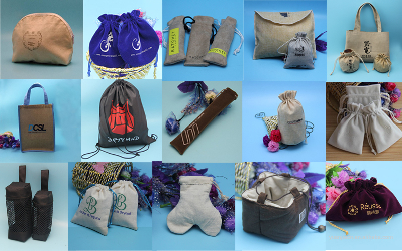 Good Quality Small Drawstring Suede Fabric Bags For Jewelry