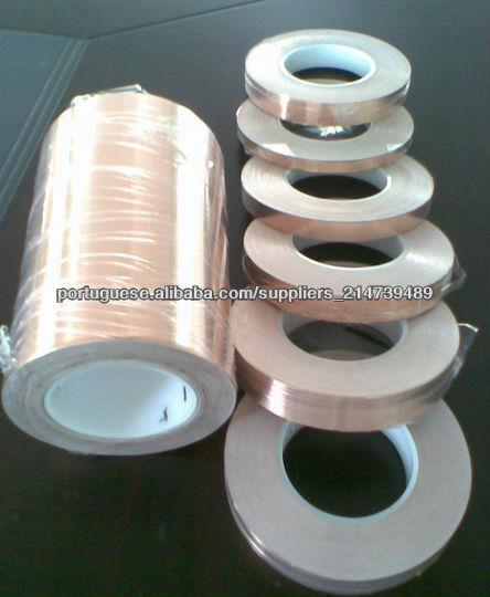 fita adesiva de folha de cobre condutora para blindagem EMI
