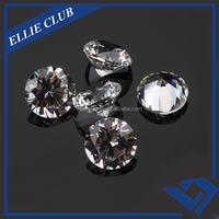 round star cut cz 8mm loose gemstone beads for jewelry ring