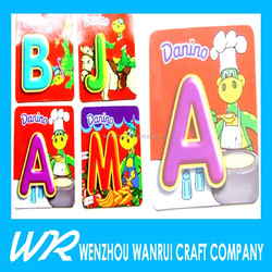 children educational paper alphabet fridge magnet
