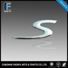 Custom 3D ABS plastic S emblem for porsche chrome car logo