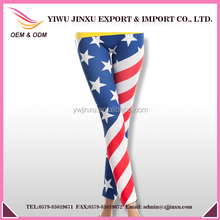 wholesale american flag pants seamless yoga printed leggings