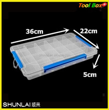 adjustable clear plastic box plastic storage boxes with 24 compartment