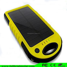 lithium polymer battery 5000mah waterproof Backup Powers mobile phone charger solar power bank