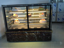 Vertical square 4 layer marble glass for freezer room