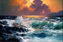 Best cheap paint metal art oil painting canvas large size designer home decor high quality low price sea oil painting wall art