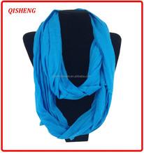 Moda multi color de poliéster remache del infinito de la bufanda para la señora