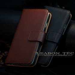 Hot sell wallet flip real genuine leather cases for apple iphone 6 mobile phone case
