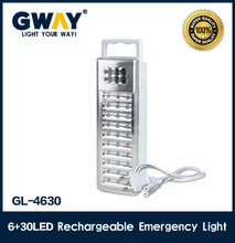 Portable emergency light with transformer charging,plastic housing