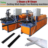 Automatic ceiling wall angle tee L shape and W shape roll forming making machine