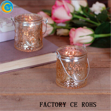 Gold Christmas Glass Candle Tea Light Holder /100% product quality protection/lights & lanterns For Wedding
