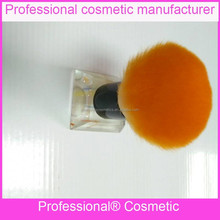 Novel designed cosmetic tools polyester fiber makeup brush based on glass pedestal