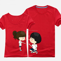 custom couple t shirt with label and image for your design