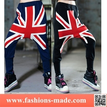 Girls Fashion UK Flag Crotch Pants
