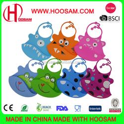 Waterproof Washable Customized FDA Eco Friendly Plastic Silicone Rubber baby bibs