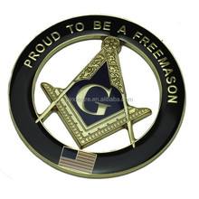 3D die cast masonic freemason car emblem