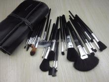 Best makeup product in market wood handle goat hair professional 24 makeup brush set
