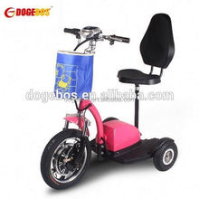 3 wheels powered mobility scooter motorcycle with front suspension for adult