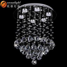 Cristal led plafonnier led 2015 moderne lustre en cristal led plafond suspendu lumière OM88553-40W