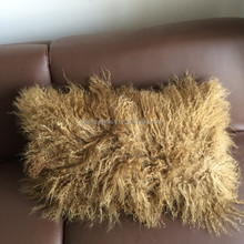 Tibetan Mongolian Lamb Skin Fur Throw Pillow For Chair Use