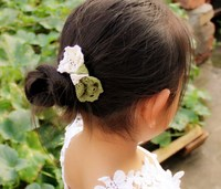 Children pastoral jewelry hairpin hairpin lace trade duckbill clip art