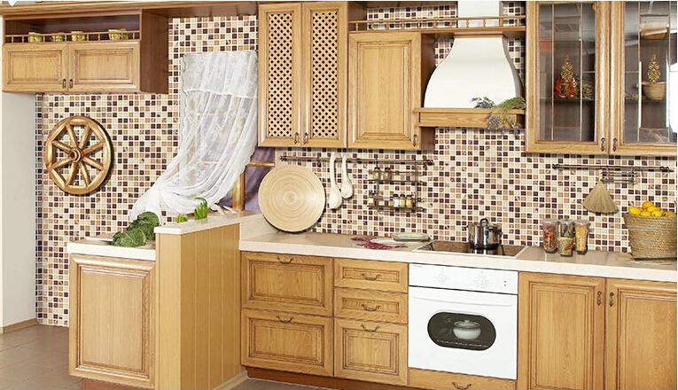 Tecnica shabby chic decoupage - Mattonelle a mosaico per bagno ...