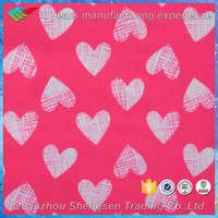 buy heart print lycra fabric from china