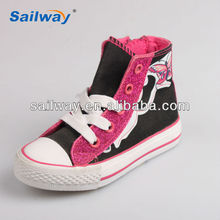 2014 canvas shoes for kids with glitter