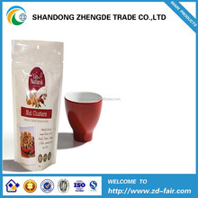 Heat sides stand up ziplock coffee tea packing bags