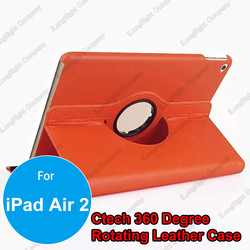 360 degree Rotating Folding Stand PU Leather Cover Case for iPad air 2,360 degree rotating PU leather case with stand