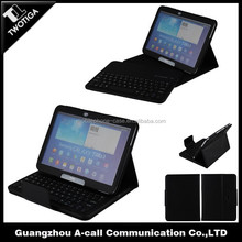 bluetooth keyboard tablet case leather standing tablet case with buetooth keyboard