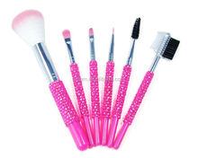 6 PCS High Quality Crystal Cosmetic Brush Kits Makeup Mini Brushes Cosmetic Brush Set