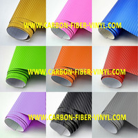 Hot Selling DIY 3D High Quality Carbon Fiber Decal Vinyl Film Wrap Roll Adhesive Car Sticker Sheet Wrap