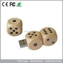 2015 novelty gedget usb flash drive/dice shepa wooden natural usb stick for gift