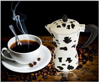 electric coffee maker 3-6 cup moka coffee pot
